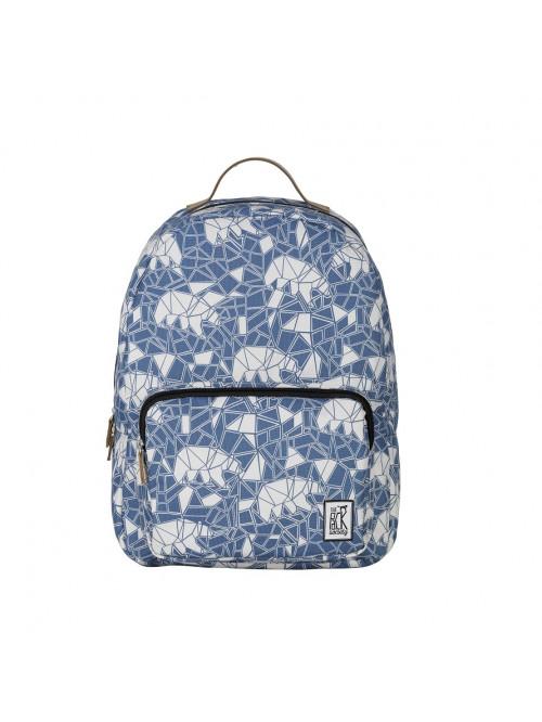 Modrý batoh so vzorom medveďa The Pack Society