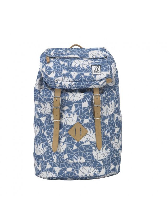 Modrý veľký ruksak so vzorom medveďa The Pack Society