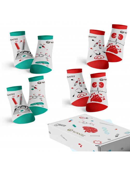 Členkové Ponožky Medical Wantee 4-pack darčekový box