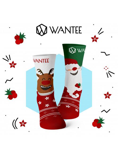 Detské ponožky Veselý Santa a Šťastný Sob Wantee