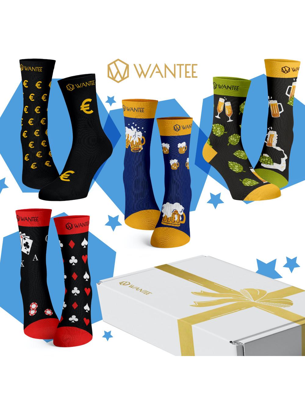 Ponožky Pánsky Klub Wantee 4-pack darčekový box