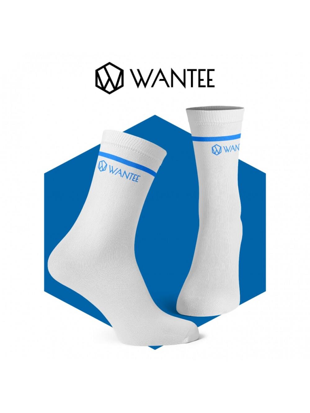 Ponožky Basic White and Blue Wantee
