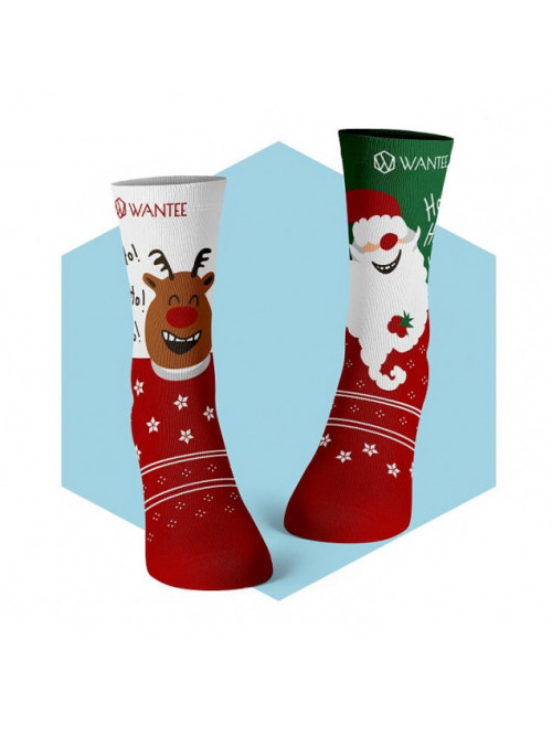 Ponožky Veselý Santa a Šťastný Sob Wantee